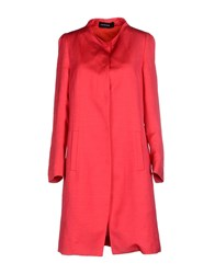 Fabrizio Lenzi Coats And Jackets Full Length Jackets Women Fuchsia