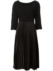 Comme Des Gara Ons Vintage Pleated Midi Dress Black