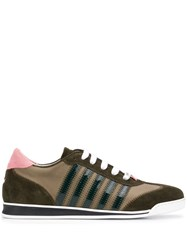 Dsquared2 Striped Logo Sneakers Green