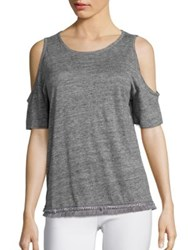 Derek Lam Cold Shoulder Tee Grey