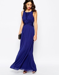 Coast Daniellea Maxi Tie Back Dress Navy