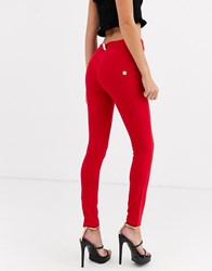 Freddy Wr.Up Shaping Effect Mid Rise Jean Red