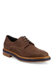 A. Testoni Phenice Leather Derby Shoes Caramel
