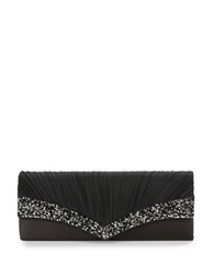 Sasha Embellished Pleated Clutch Gunmetal