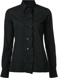 Maison Martin Margiela Ruffle Placket Shirt Black