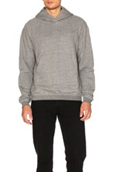 John Elliott Unfinished Edge Raglan Hoodie In Gray