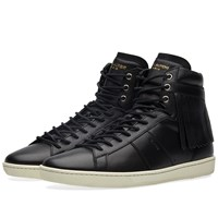 Saint Laurent Fringe High Top Sneaker Black
