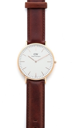 Daniel Wellington St. Andrews 40Mm Watch With Brown Leather Band