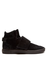 Adidas Tubular Invader High Top Suede Trainers Black
