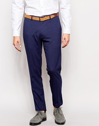 Asos Skinny Smart Trousers In Dogstooth Navy