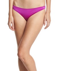 Eberjey Allie Ruched Back Swim Bottom Purple