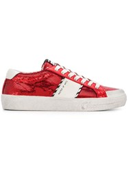 Moa Master Of Arts Sequin Logo Sneakers Red