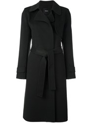 Theory Belted Coat Green