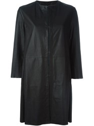 Drome Collarless Coat Black