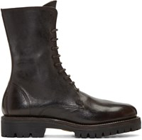 Guidi Brown Leather Lace Up Boots