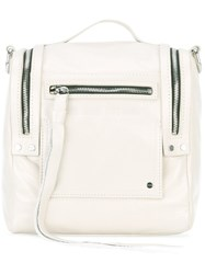 Mcq By Alexander Mcqueen Mini Convertible Box Backpack Women Calf Leather One Size White