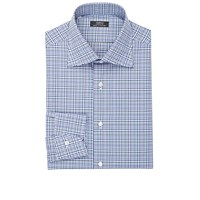 Fairfax Plaid Poplin Shirt Navy