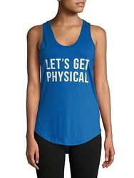 Chrldr Cotton Physical Racerback Tank Electric Blue
