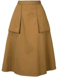 Maison Martin Margiela Pleated Skirt Brown