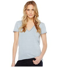 Joe's Jeans Sienna V Neck Tee Medium Stonewash Women's T Shirt Navy