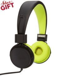 Polaroid Foldable Headphones Black And Yellow