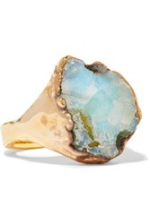 Dara Ettinger Gold Plated Stone Ring