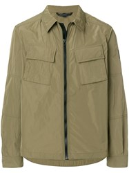 Belstaff Waterproof Shirt Jacket Green