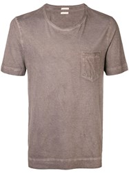 Massimo Alba Round Neck T Shirt Brown