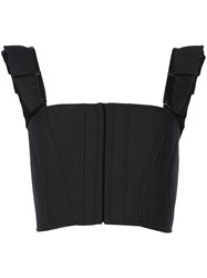 Vera Wang Cropped Vest Top Black