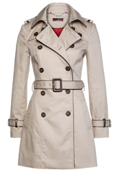 La City Trenchcoat Beige Et Chocolat