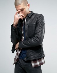 Allsaints Leather Jacket Black