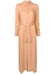 Nanushka Nija Shirt Dress Neutrals