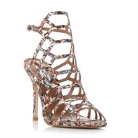 Steve Madden Slither Caged High Heel Sandals Multi Coloured