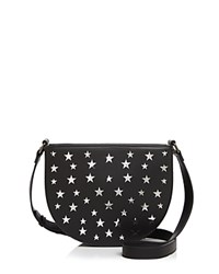 Street Level Stars Half Moon Crossbody Black Stars Gunmetal
