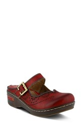 L Artiste Women's L'artiste Aneria Clog Red Leather