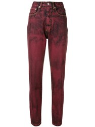 Fiorucci Acid Wash Jeans Red