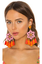 Mercedes Salazar Hibiscus Rosa Earrings Pink