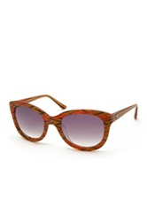 M Missoni Women's Wayfarer Acetate Frame Sunglasses Orange