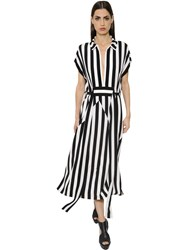 Akris Striped Silk Crepe Dress