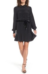 Juicy Couture Women's Silk Shirtdress Pitch Black