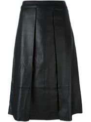 Rag And Bone Mid Waist Pleated Skirt Black