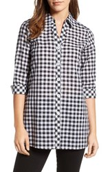 Foxcroft Women's Gingham Cotton Tunic Shirt