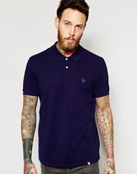 Pretty Green Polo Shirt With Logo In Navy Navy