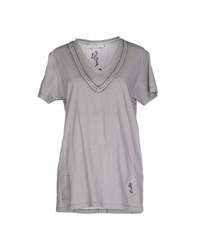 Religion Topwear T Shirts Women Grey