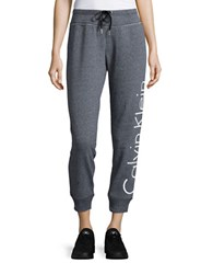 Calvin Klein Signature Drawstring Sweatpants Black Heather