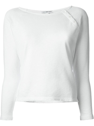 James Perse Button Detail Longsleeved T Shirt White