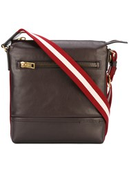 Bally Trezzini Messenger Bag Men Cotton Leather One Size Brown