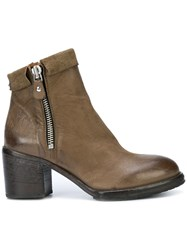 Moma Mid Heel Ankle Boots Green