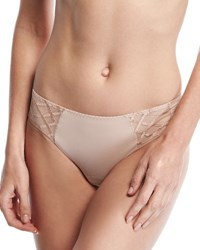 Lejaby Sopi Lace Trim Bikini Briefs Neutral Pattern