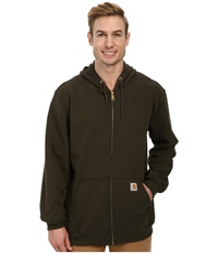 Carhartt Mw Hooded Zip Front Sweatshirt Olive Men's Sweatshirt